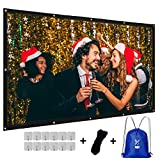 KPCB Pantalla para Proyector 100 Pulgadas(237cm*140cm)con accesorios de una sola fuente, Durable y Plegable para Cine En Casa y al Aire Libre
