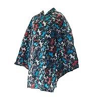Faye UK Ltd. Eco-Chic Foldable Waterproof Lightweight Adult Poncho Buddleia