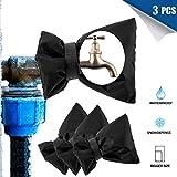 DCZTELG Wasserhahn-Abdeckung für den Außenbereich, 20 x 15 cm, Schwarz, 3 Stück