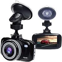 TOGUARD Telecamera per Auto, Auto Dash Cam Videoregistratore Videocamera, Full HD 1080P DVR Video, F2.0 H.264 2.7 LCD, G-sensor, LDWS, FCWS,Monitor di parcheggio, Rilevazione di movimento