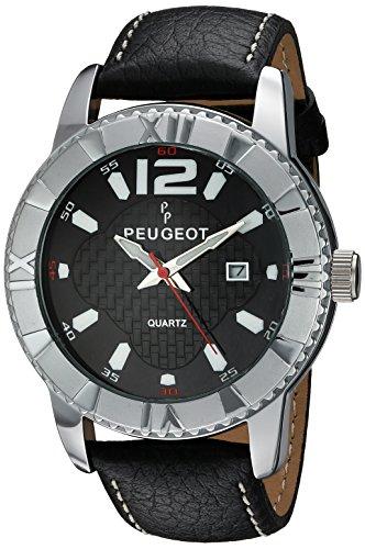 peugeot-herren-armbanduhr-44mm-armband-leder-schwarz-gehause-metall-automatik-analog-2037s