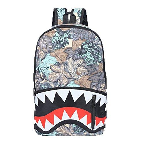 Ohmais Rücksack Rucksäcke Rucksack Backpack Daypack Schulranzen Schulrucksack Wanderrucksack Schultasche Rucksack für Schülerin Blatt