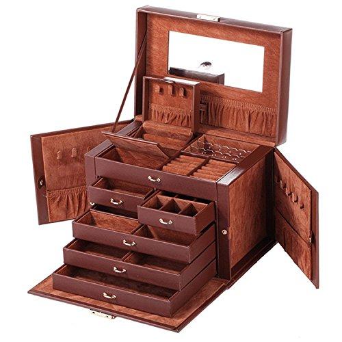 Rowling Schmuckkästchen Schmuckkoffer mit Mini-Box Schmuckkasten ZR245 (braun)
