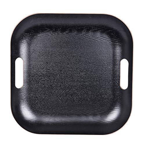 Plateau carré 39cm noir