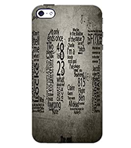 PrintDhaba QUOTE D-7008 Back Case Cover for APPLE IPHONE 4 (Multi-Coloured)