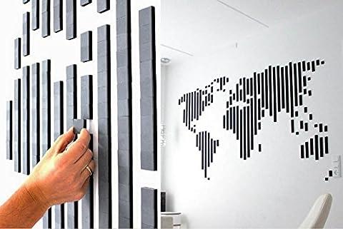 Wallz Copenhagen - Wandsticker ablösbar aus Schaumstoff - einfach wechselbar - Tiere, Muster, Personen, immer neue Motive als Wandtattoo mit 3D Effekt durch 8 mm Stärke - mit Motivvorlagen -