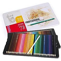 Cobee 72 - Lápices de Tinta Soluble en Agua (72 colores, en estuche de metal)
