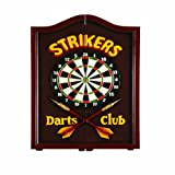 "RAM Gameroom Products Dartboard Cabinet, ""Strikers Darts Club"""