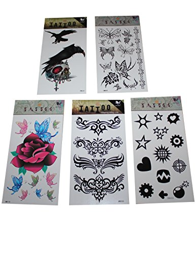 c5-mit-5-tatouages-temporaires-ber-30-ttowierungen-summe-en-rose-viele-designs-schmetterling-adler-s