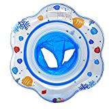 niños bebé Inflable de natación ronda anillo Neumático flotante asiento flipper (1-5 años) (azul)