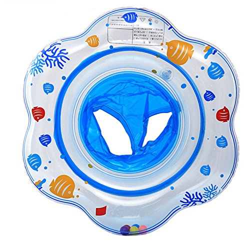 Kinder Baby Aufblasbare Runde Schwimmen Ring Sitz Schwimmreifen Flipper 1-5 Jahre Alt (blau)