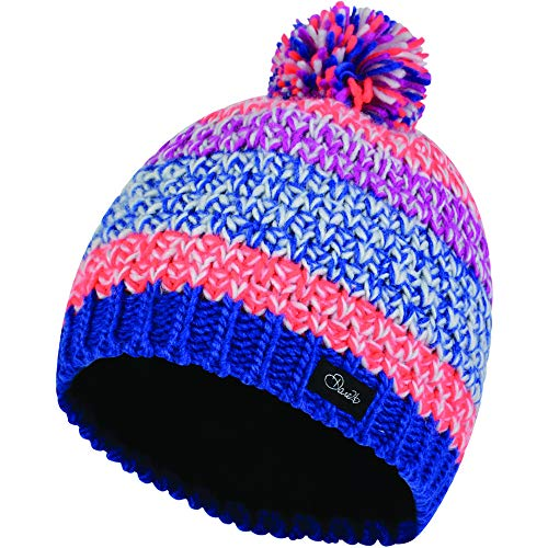 Dare 2b Girls Superflash Acrylic Knit Fleece Beanie Hat Acrylic Knit Beanie