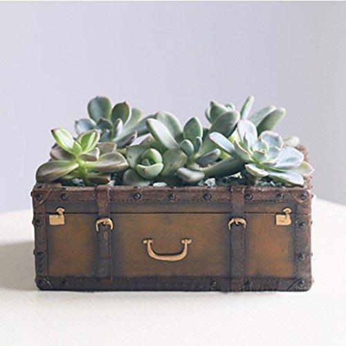 Maceta con forma de maleta