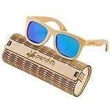 pandoo Bambus-Sonnenbrille mit Brillen-Etui