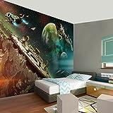Fototapete Starbase 352 x 250 cm - Vliestapete - Wandtapete - Vlies Phototapete - Wand - Wandbilder XXL - !!! 100% MADE IN GERMANY !!! Runa Tapete 9075011a