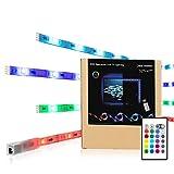 TV Hintergrundbeleuchtung,LED Strip RGB USB Stimmungslicht Für 32 bis 47 Zoll HDTV mit Remote.LED Streifen