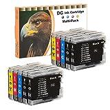 D&C 10er Set (B/C/M/Y) Druckerpatronen kompatibel für Brother LC-10, LC-37, LC-51, LC-57, LC-960, LC-970, LC-1000 Brother DCP-130C DCP-330C DCP-350C DCP-357C DCP-540CN DCP-560CN DCP-680CN DCP-750CW DCP-770CW FAX-1355 1360 1460 1560 LC-1000 MFC-240C 3360C 350C 440CN 465CN 5460CN 5480CN 5860CN 660CN 680CN 845CW 885CW