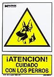 WOLFPACK 15050922 - Cartel Cuidado Con Los Perros 30x21 cm