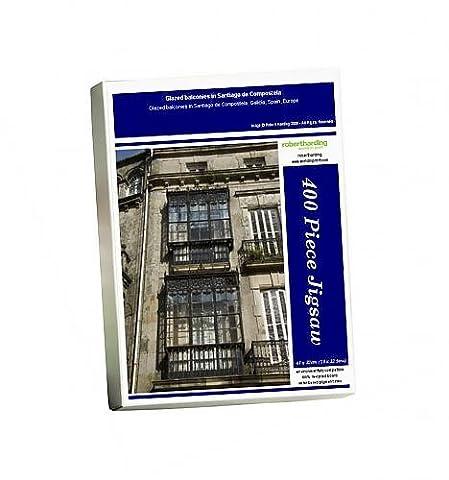 Photo Jigsaw Puzzle of Glazed balconies in Santiago de Compostela
