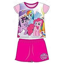 My Little Pony Pijamas de Verano 2 Piezas de Camiseta y Culote Producto Oficial, rosa