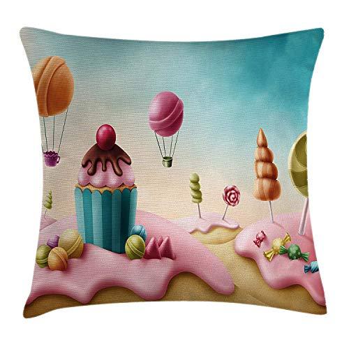 Candyland Dress - ZMYGH Girls Room Decor Throw Pillow