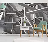 Papier Peint Panoramique Tapisserie Murales Stickers Muraux Salon Papier Peint 3D Nouvel Espace Géométrie Objet Simple Mode Showroom Hotel Bar Ktv Fond Mur...