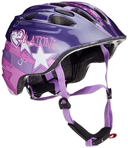 Cratoni Kinder Fahrradhelm Akino, Purple/Pink/Glossy, 53-58 cm, 112213A2