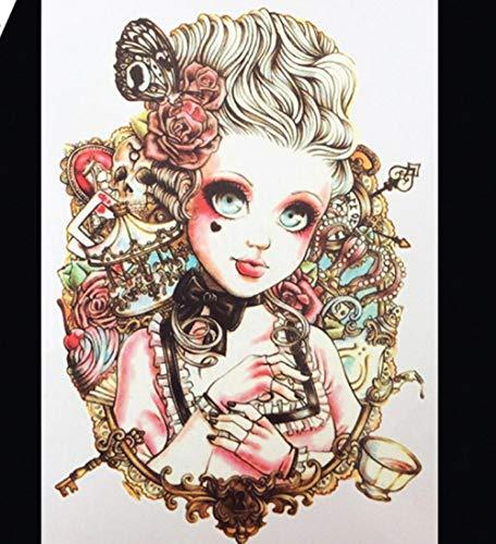 Adesivi per tatuaggi temporanei fata per bambina carina disegni impermeabili semipermanenti rimovibili glitter festival per bambini donna body art 21x15cm 5 pcs