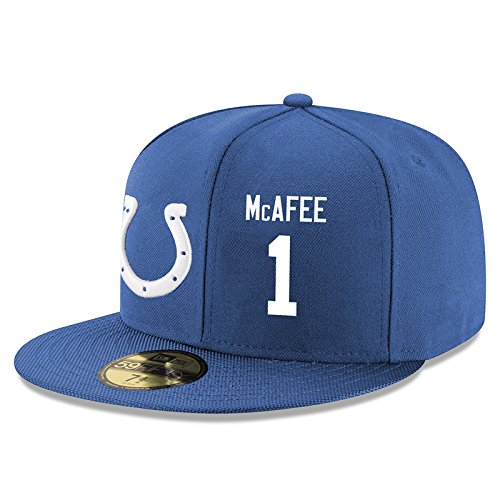 1-pat-mcafee-blue-game-team-classic-colts-stretch-fit-cap-adjustable-hat