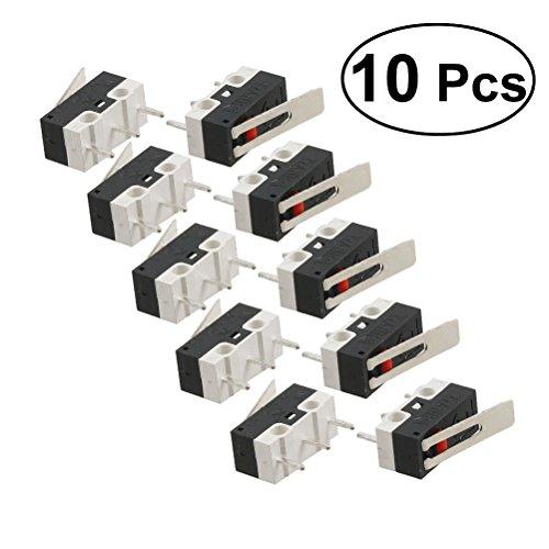UEETEK 10 STÜCKE SPDT 3 Pin Micro Endschalter AC 1A 125 V Scharnier Hebel -