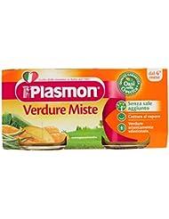 Plasmon Oasi Nella Crescita, Verdure Miste Omogeneizzato, dal 4 Mese - 160 gr