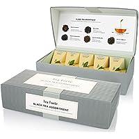 Tea Forte Black Tea Assortment - Té Negro Caja de Regalo 10 filtros pyramides de Tea Forté