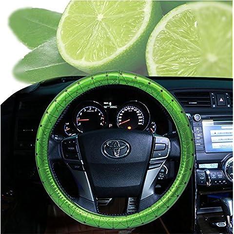 EarthSafe® Donne copertura del volante, Universal 15 pollici Special Luxury Dazzle Colore Four Seasons sterzo copertura dell'involucro per la signora Girls (Verde)