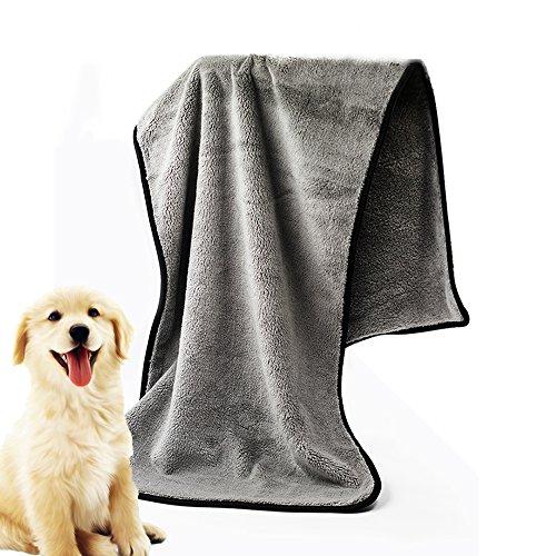 [AIDIYA] Super chamois Hund Katze Groomers aquasorb fusselfrei chamois Handtuch leicht, schnell trocknend und Super Saugstark (Blue)