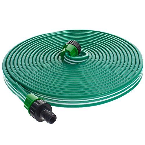 """Smartfox Sprühschlauch Sprinkler Gartenschlauch Wasserschlauch mit 30 m ausgedehnt mit 1/2\"""" Zoll Anschluss in Grün"""