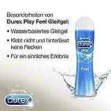 Durex Play Feel Gleitgel auf Wasserbasis – Leichtes, seidiges Gleitmittel für gefühlsechtes Empfinden – 1 x 100 ml in der praktischen Dosierflasche für Durex Play Feel Gleitgel auf Wasserbasis – Leichtes, seidiges Gleitmittel für gefühlsechtes Empfinden – 1 x 100 ml in der praktischen Dosierflasche