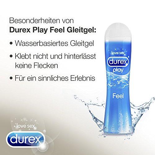 Durex Play Feel Gleitgel, wasserbasiert/ auf Wasserbasis, für gefühlsechtes Empfinden, 1er Pack (1 x 100 ml) - 3