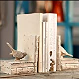 #6: TIED RIBBONS Bird shaped Non Skid Bookends Books Magazine holder organizer for Home Office