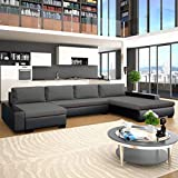 Festnight- canapé-lit canapés de Salon Confortable canapé Moderne Canapé d'angle Cuir + Bois 385...