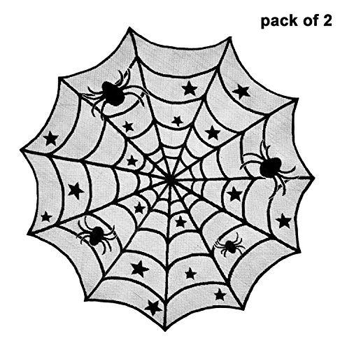 Ideapark Halloween Tischläufer,Polyester Spitze Tischtuch, 2 Pack 40