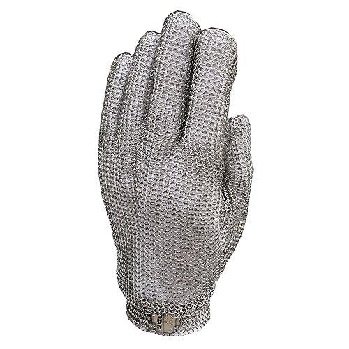 Anself Schnittschutzhandschuhe Küchenhandschuhe aus Edelstahl 5 Handschutz Ebene