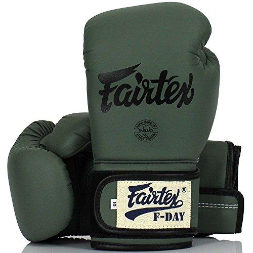 Fairtex Boxhandschuhe, BGV-11, F-Day, Boxing Gloves MMA Muay Thai Thaiboxen Size 12 Oz Fairtex Boxhandschuhe Schwarz