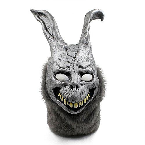 QTMY Deluxe Neuheit-Halloween-Kostüm-Party-Latex-menschliche Hauptmaske (Hole In Halloween One Kostüm)