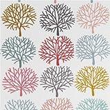 Tela crema claro árbol rosa verde menta azul gris claro de Alexander Henry