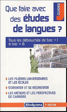 Que faire avec des études de langues ?
