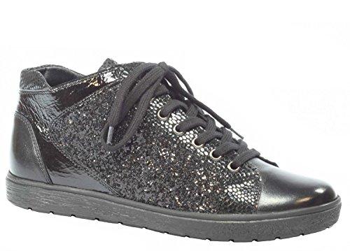 Caprice donne Sneaker 9-25254-019 Kombi nero Gr. 37-40,5, pelle schwarz