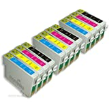 12 Compatible Printer Ink Cartridges for Epson Stylus SX218 - Cyan / Magenta / Yellow / Black