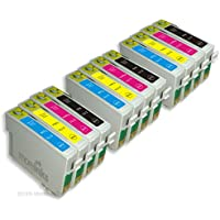 12 Compatible Printer Ink Cartridges for Epson Stylus DX8400 - Cyan / Magenta / Yellow / Black