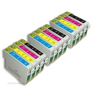12 Cartouches d'encre Compatibles pour Epson Stylus SX515W SX215 SX415 SX218 SX400 SX115 SX510W SX600FW SX200 S21 SX205 SX105 SX405 SX100 SX110 SX410 SX210 SX610FW S20 Wifi DX8400 DX8450 DX7450 DX4450 DX7400 DX4400 DX9400F DX6000 DX5000 D92 DX5050 DX6050 DX4000 DX4050 D120 & Range D78 Network DX8000 DX7000F DX6050EN BX300f BX600FW BX610FW BX310FN B40W Office BX510 - Cyan / Magenta / Jaune / Noir Avec Puce - 3 X T0711/891 + 3 X T0712/892 + 3 X T0713/893 + 3 X T0714/894