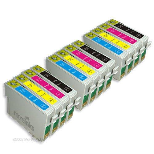 12 Cartouches d'encre Compatibles pour Imprimante Epson Stylus S21 - Cyan / Magenta / Jaune / Noir- Avec Puce